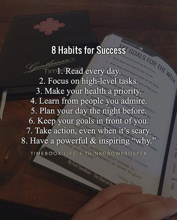 8 Habits for Success